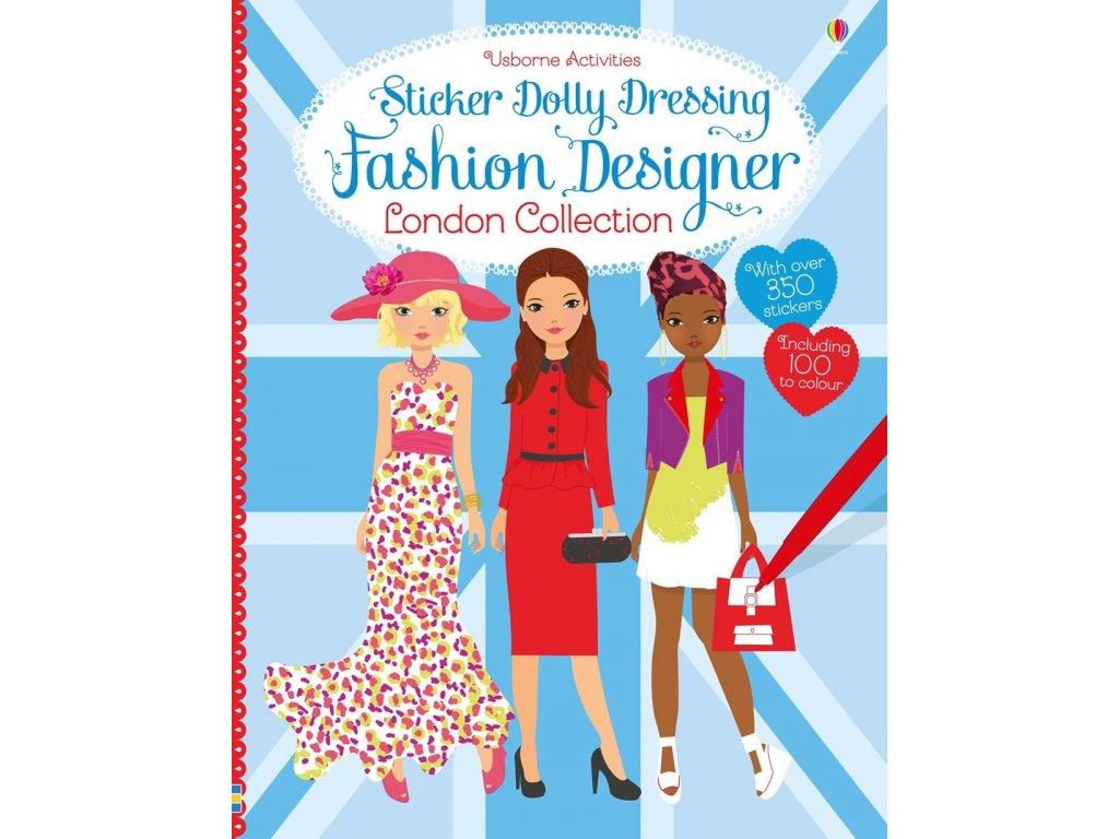Sticker Dolly Dressing Fashion Designer London Collection Books For Joy Knihy Pro Radost