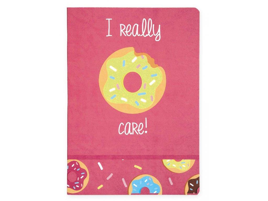 I DONUT CARE Sešit A4 Donut