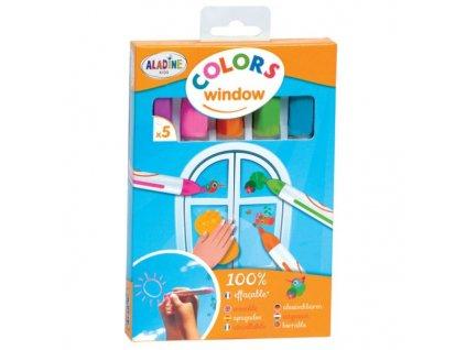 Okenní křídové fixy pastelové barvy 1