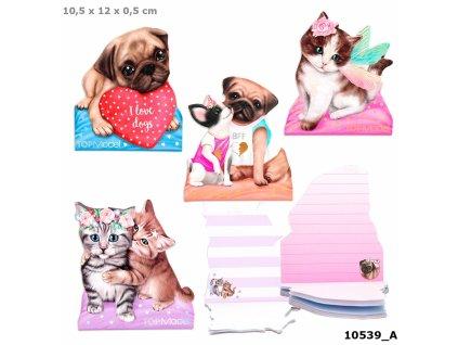 Poznámkový blok Top Model (A6) pejsci nebo kočičky