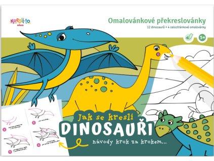 Omalovánkové překreslovánky Jak se kreslí Dinosauři 1