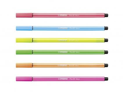 Stabilo Pen 68 fluorescenční barvy