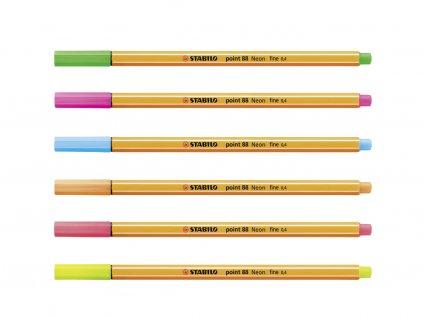 Stabilo Point 88 fluorescenční barvy