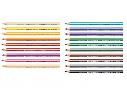 Stabilo Trio silná pastelka všechny barvy