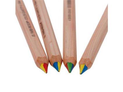 Lyra čtyřbarevné pastelky, nelakované, 1ks šestihranná