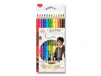 PASTELKY MAPED COLOR'PEPS HARRY POTTER 12 BAREV 1