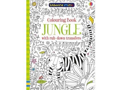 Jungle colouring book with rub down transfers