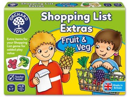 Nákupní seznam ovoce, zelenina 1