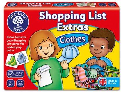 Nákupní seznam oblečení 1