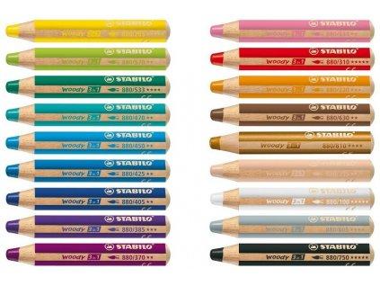 vyr 2032 Stabilo Woody 18 barev