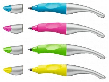STABILO EASYoriginal metallic R - ergonomicky tvarovaný roller pro praváky (Barva neonově žlutá/metalická)