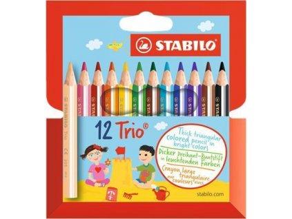 Stabilo Trio Thick silná krátká 12 ks