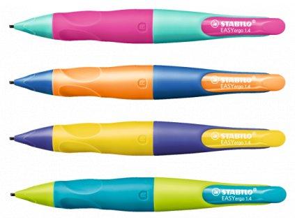 STABILO EASYergo 1.14 R - mechanická tužka pro praváky (Barva ultramarín modrá/neon oranžová)