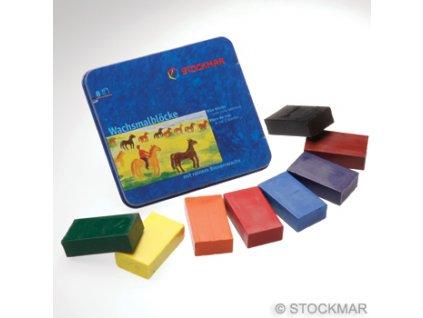 Stockmar - voskové bločky (8 ks) (Barva základní barvy)