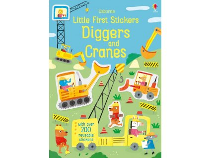 4290 little first stickers diggers and cranes