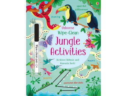 Wipe clean jungle activities