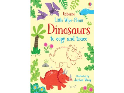Little wipe clean dinosaurs to copy and trace