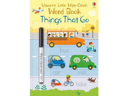 Little wipe clean word books Things That Go