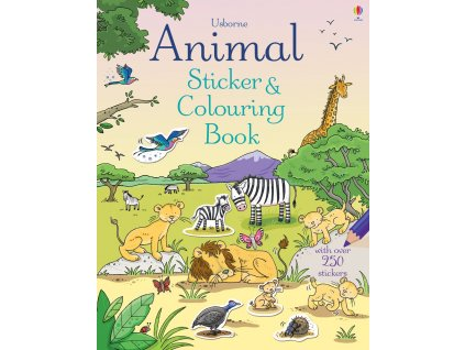 Animal sticker and colouring book 1