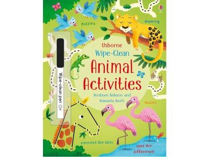 Wipe clean animal activities