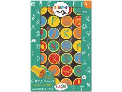 Samonamáčecí razítka StampoEasy, abeceda 1