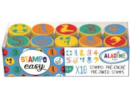 Samonamáčecí razítka StampoEasy, číslice 1