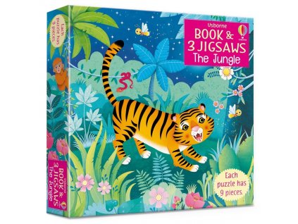 The Jungle picture book and three jigsaws