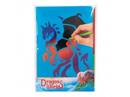 Škrabací obrázky Dino World Dragons World 1