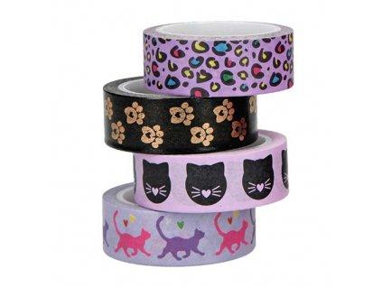 Dekorační lepicí pásky Top Model fialové