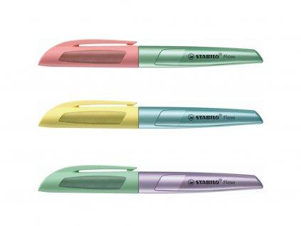 STABILO Flow COSMETIC - plnicí pero (Barva žluto-modrá)