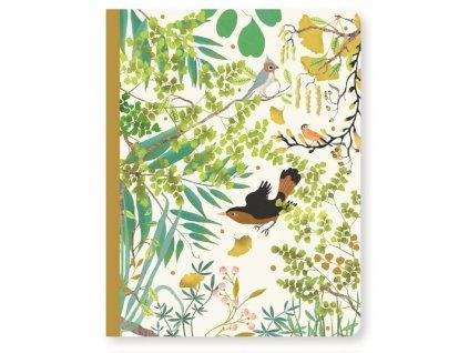 Krásný designový zápisník Tina a ptáček