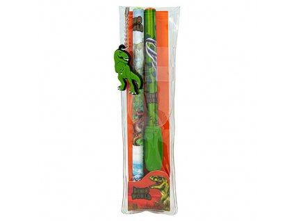 Dino World Sada 2 trojhranných tužek s nástavcem 1