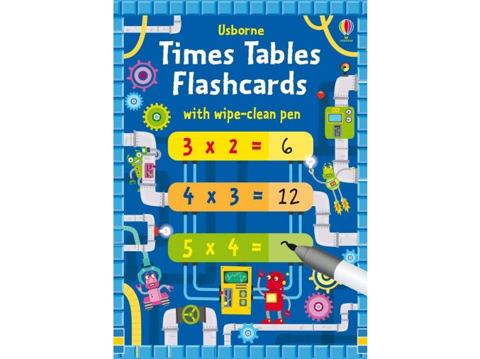 Time Tables Flashcards with wipe clean pen