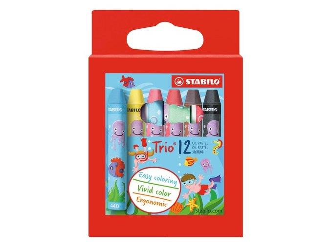 22681 2612PL STABILO Trio Oil Pastel 12pcs wallet