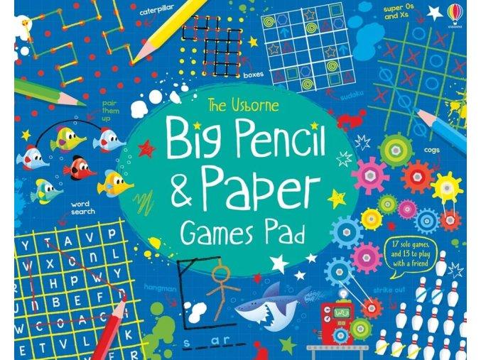Big pencil and paper games pad 1