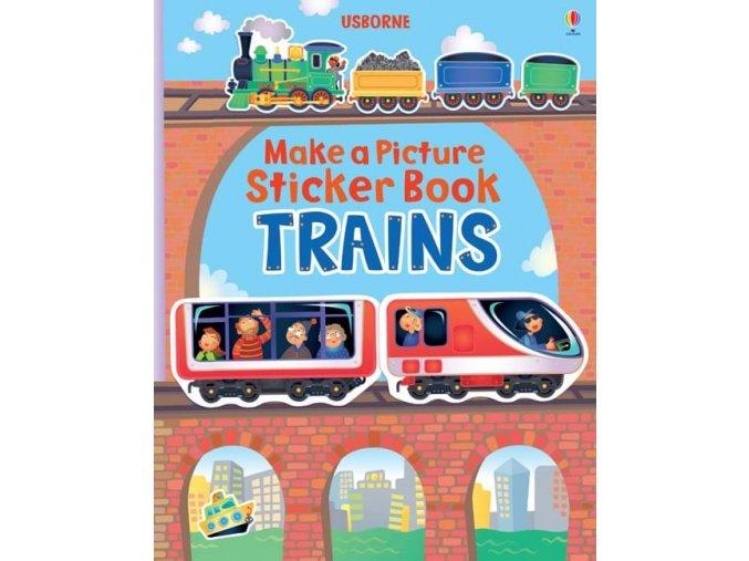 Make a picture sticker books Trains