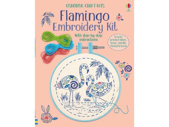 Embroidery kit Flamingo