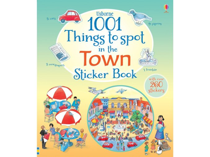 1001 things to spot in the town sticker book 1