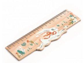 Dřevěné designové pravítko Lucille