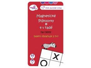 Magnetická hra Piškvorky na cesty 2