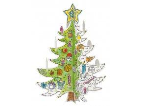 Vánoční stromek k vymalování 2