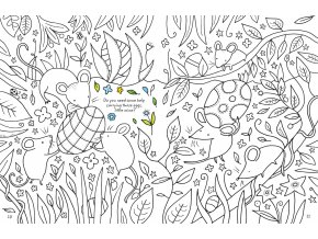 Easter colouring book with rub down transfers
