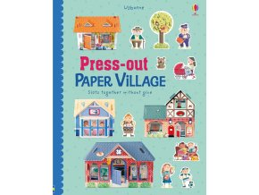 Press out paper village 1
