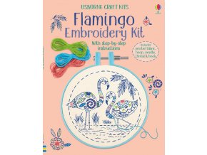 Embroidery kit Flamingo