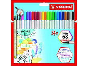 STABILO Pen 68 brush 24 ks pouzdro