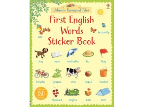 First English words sticker book