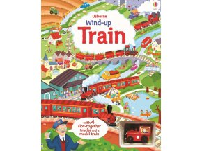 Wind up train book with slot together tracks 1