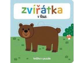 Zvířátka v lese Knížka s puzzle 1