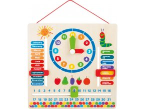 The Very Hungry Caterpillar Learning Board Date & Time 1