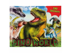 Kreativní sešit Dino World sticker 1